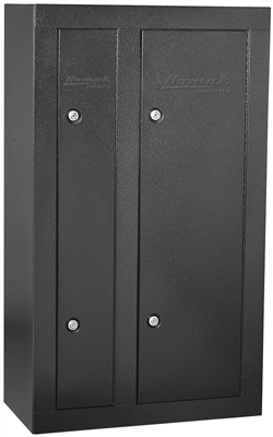 Homak 8 Gun Cabinet Double Door - Steel - Black