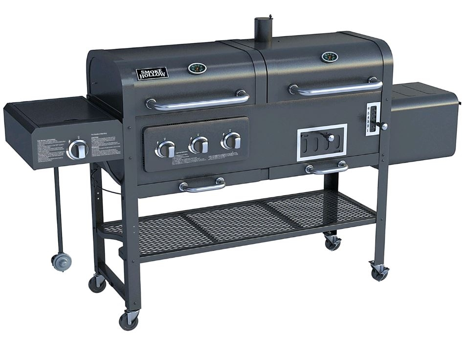smoke hollow sh7000 gas charcoal smoker grill with infrared sear burner. Black Bedroom Furniture Sets. Home Design Ideas