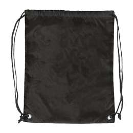 Plain Black  DoubleHeader Backsack String Bag