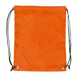 Plain Orange  DoubleHeader Backsack String Bag