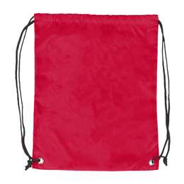 Plain Red  DoubleHeader Backsack String Bag