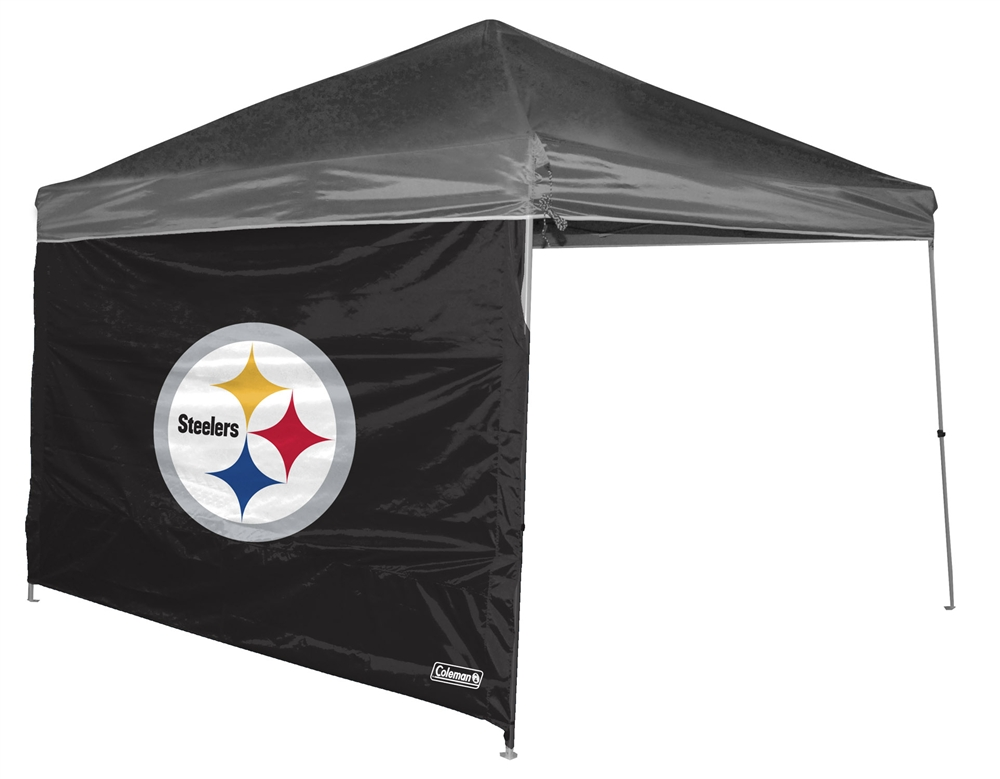 Pittsburgh Steelers 10 X 10 Straight Leg Shelter Wall for Coleman  sc 1 st  StadiumAllstar.com & 10 X 10 Canopy Tent