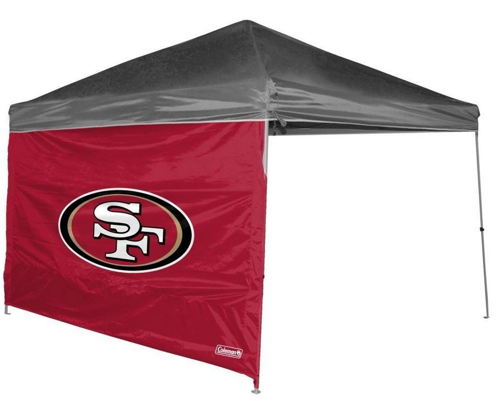 San Francisco 49ers 10 X 10 Straight Leg Shelter Wall for Coleman  sc 1 st  StadiumAllstar.com & 10 X 10 Canopy Tent